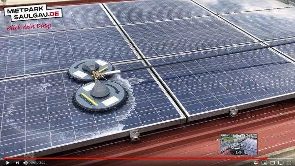 Video Solarreinigung mit Kärcher iSolar 800, Hebebühne und Hochdruckreiniger vom mietpark-saulgau.de